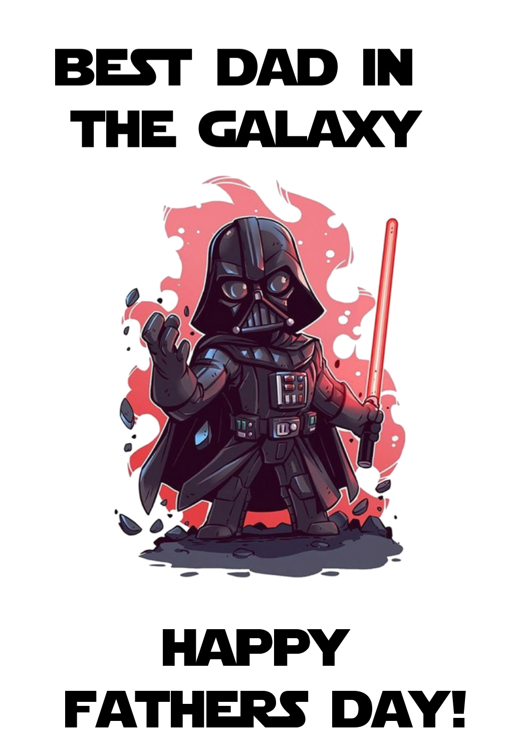 INSTANT DOWNLOAD Star Wars Printable Fathers Day Card Darth Vader Card Together we can rule the galaxy