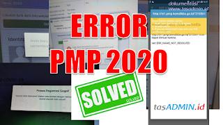 Solusi Error PMP EDS 2020