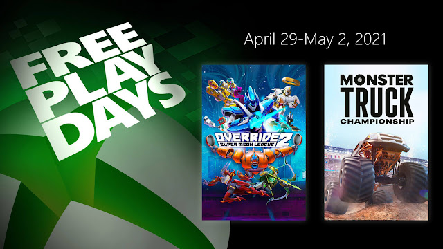 monster truck championship and override 2: super mech league modus games teyon nacon bigben interactive xbox live gold free play days event