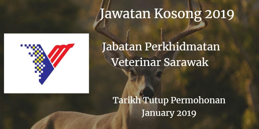 Jawatan Kosong Jabatan Perkhidmatan Veterinar Sarawak 20 January  2019