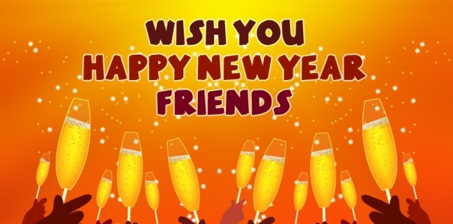 happy new year 2019 for friends