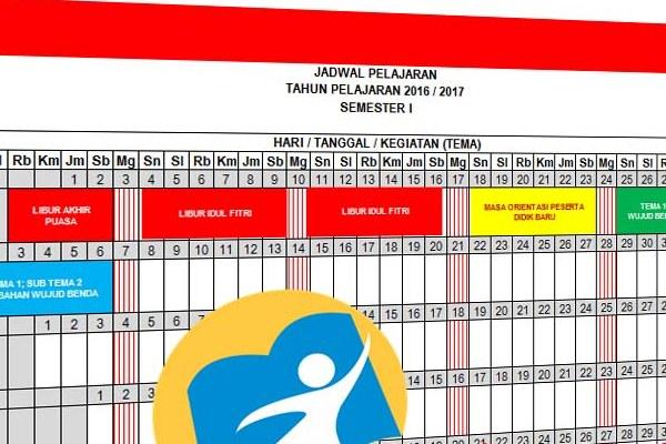 Download Jadwal Pelajaran Kurikulum 2013 SD/MI Tahun Pelajaran 2016/2017 Versi Baru