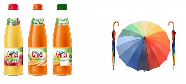 Wygrana w Konkursie:  Wygraj tęczową parasolkę i zestaw świeżo-wyciskanych soków Cymes!