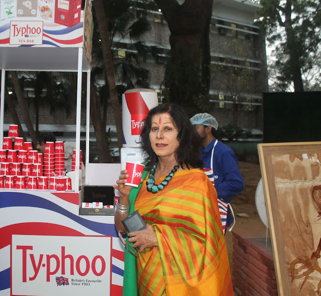 Legandary Kathak dancer  Shovana Narayanan at Typhoo Tea bar