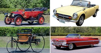 Carros clássicos do Museu da Toyota