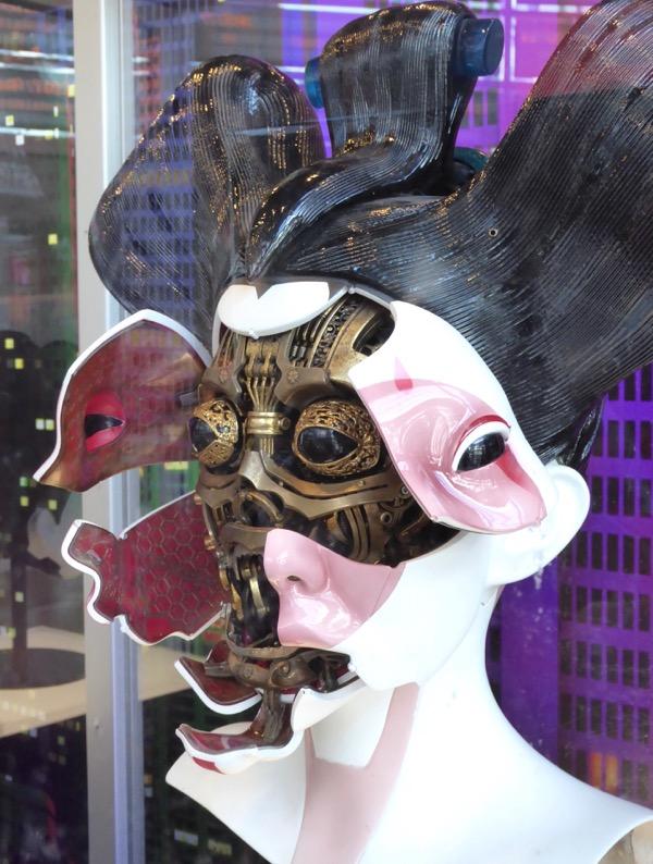 Ghost in the Shell Animatronic Geisha head