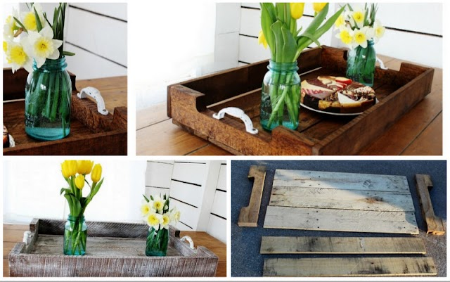 DIY Rustic Δίσκος Σερβιρίσματος από Παλετόξυλα