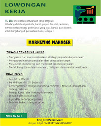 loker marketing manager blitar