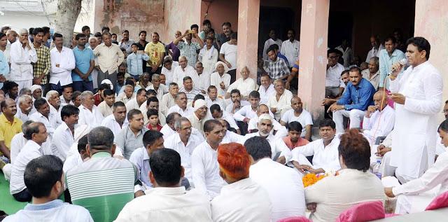 lalit-nagar-mla-address-gathering-mirjapur-village-tigaon-faridabad