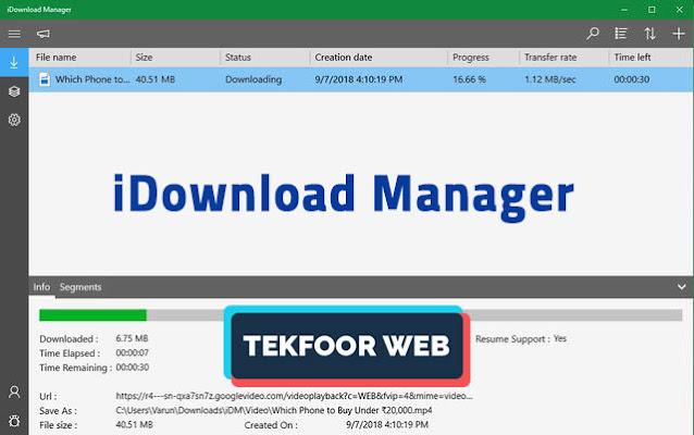 افضل 10 برامج التحميل للكمبيوتر و أسرعها لسنة 2021 iDownload Manager