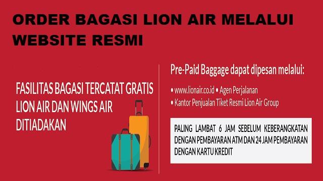 Cara Beli Bagasi Lion Air