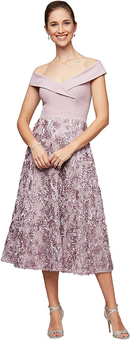 Pretty Tea Length Mother of The Bride Dresses