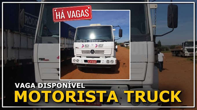B C L A Transportadora abre vagas para caminhão Truck e Bi-truck