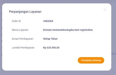cara memperpanjang domain di niagahoster terbaru