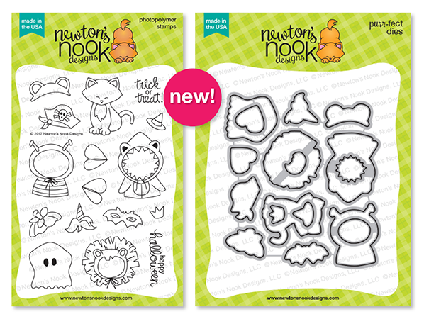 Newton's Costume Party Stamp Set and Die Set by Newton's Nook Designs #newtonsnook #handmade