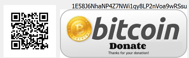 bitcoin donation with QR code