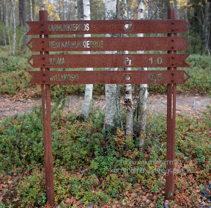 pieni karhunkierros oulanka oulangan kansallispuisto ruska kyltti