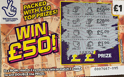 £1 Win £50! Scratchcard