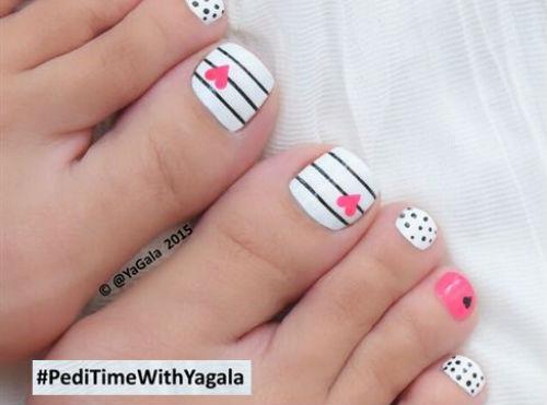 uñas de pies decoradas