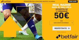 betfair supercuota liga Real Madrid gana al Mallorca 19 octubre 2019
