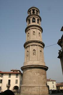 Cagnola's campanile at the town of Urgnano, near Bergamo