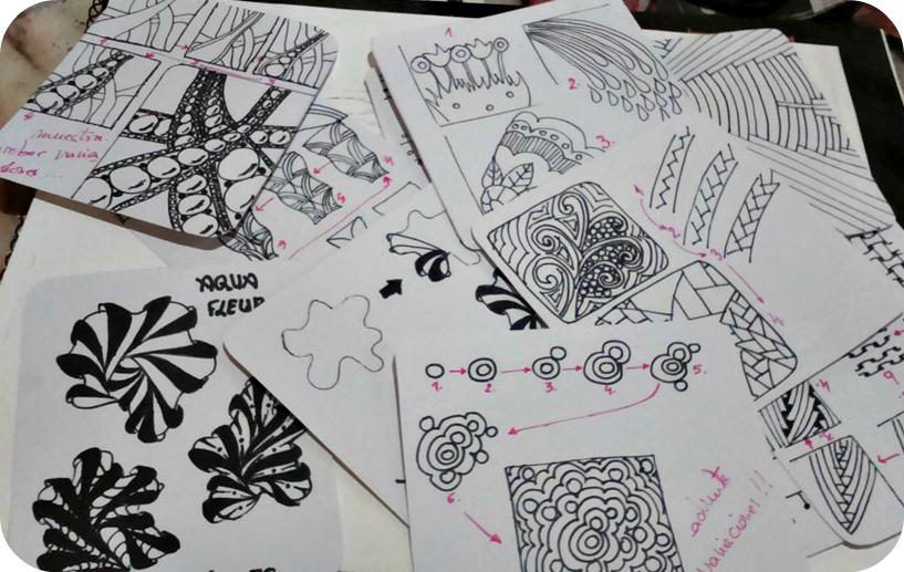 Sólo Mar.: Zentangles , recoplilando mis patrones.