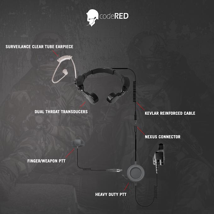 Assault Throat Mic Tactical Headset Line