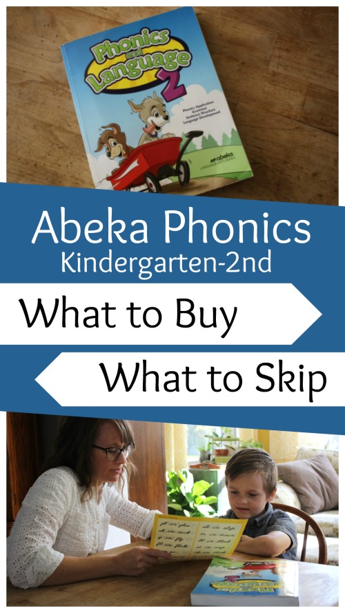 Abeka Phonics K-2nd: What to Buy and What to Skip #homeschool #homeschoolcurriculum #curriculumreview #abeka #phonics