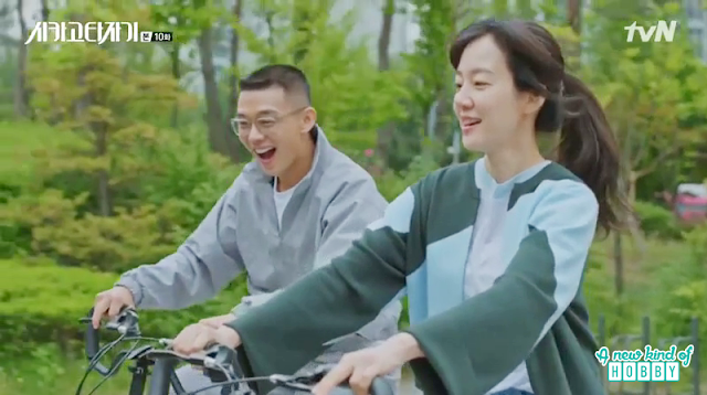 jeon seol and se joo bicycle date -  Chicago Typewriter: Episode 10 korean drama