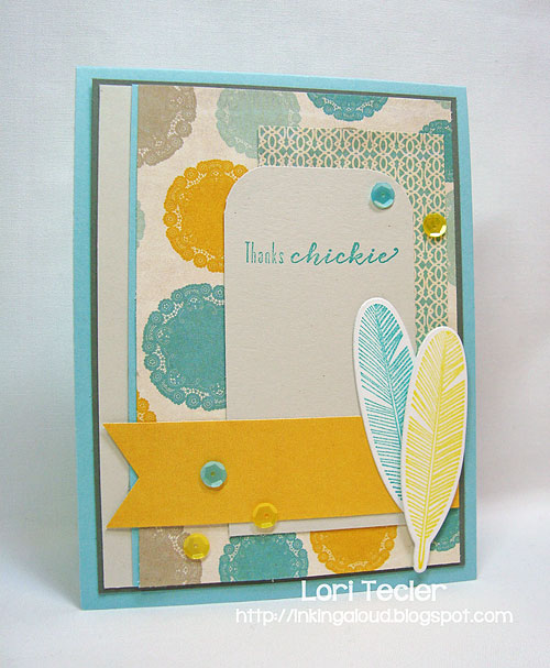 Thanks Chickie-designed by Lori Tecler-Inking Aloud-stamps and dies from Waltzingmouse Stamps