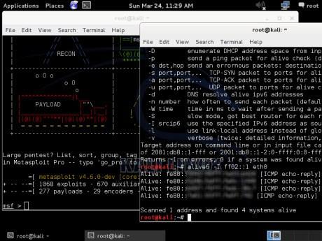 Kali tiene pocas interfaces graficas, casí todo se ejecuta por consola