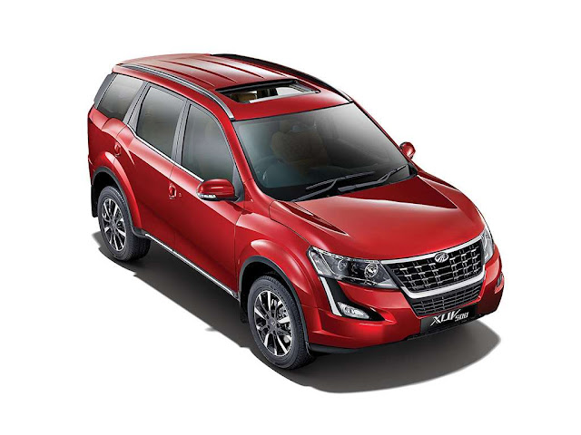 2018 New XUV 500 Tuscan Red Top view image