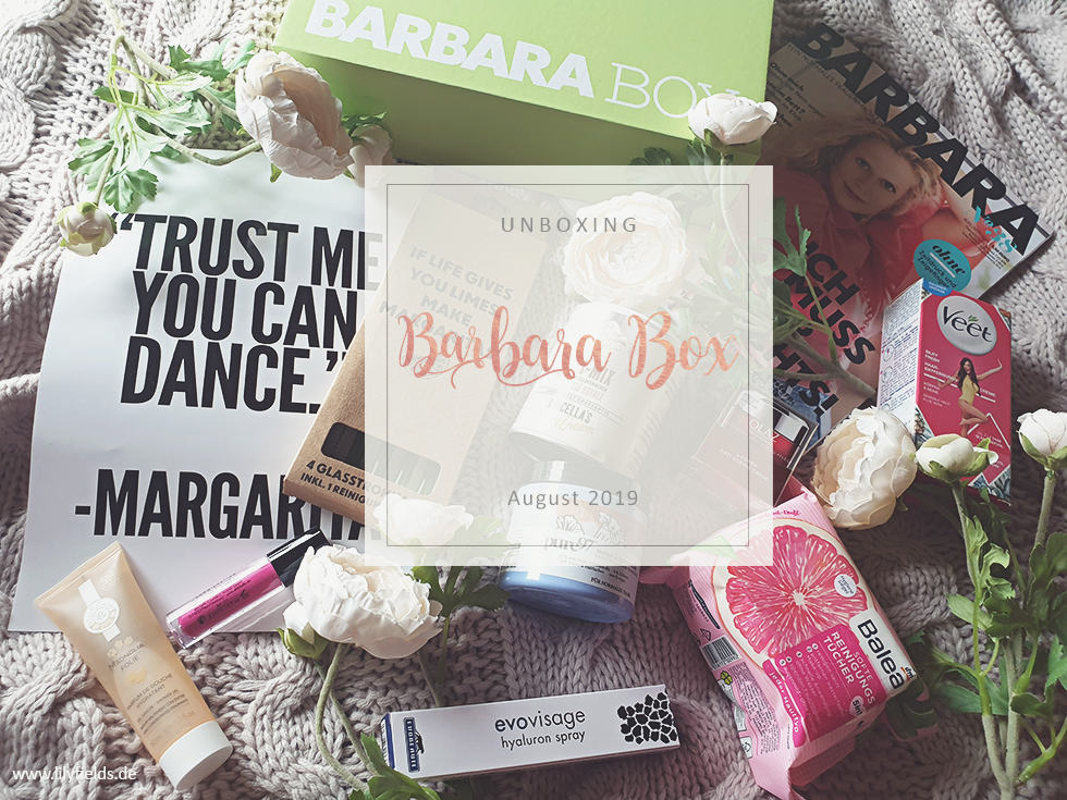 Barbara Box - August 2019 - unboxing
