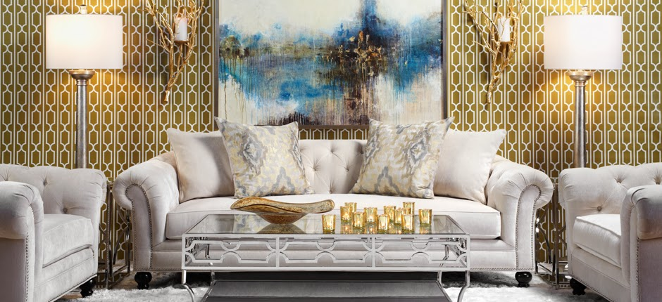 gold and silver living room decor decorating cents mixing metals in home decor 24918