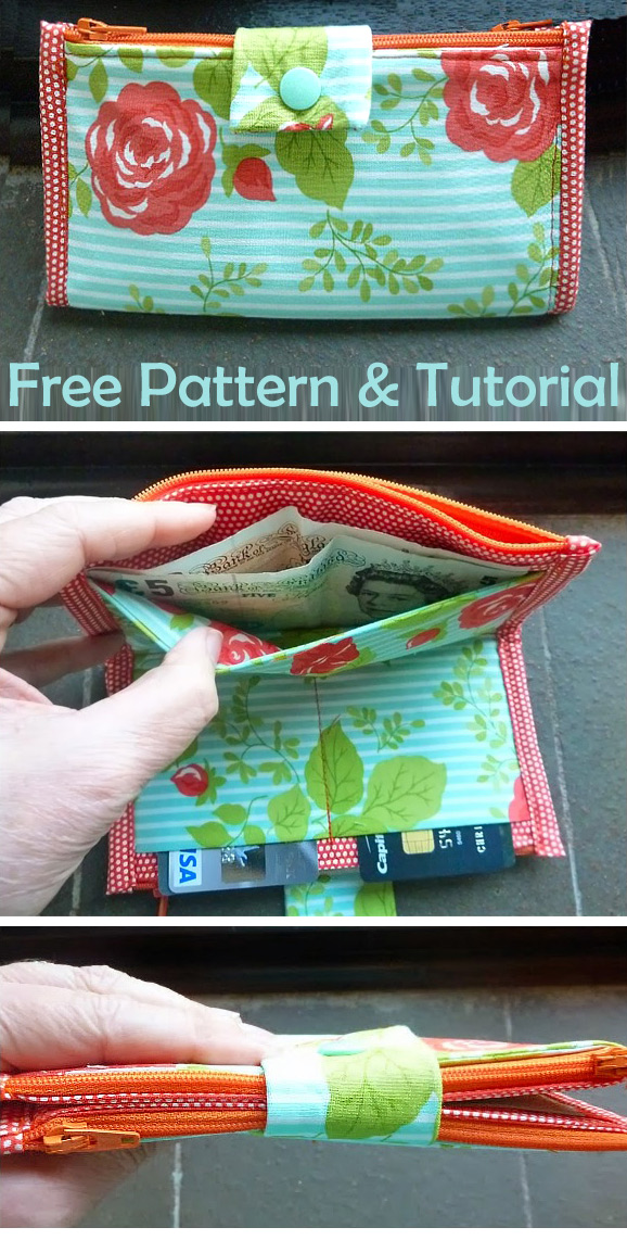 Tutorial For 2 Sided Zippered Purse Or Wallet