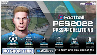 Download PES 2022 PPSSPP New Transfer Update Chelito V8 & Best Graphics Camera PS4 Engish Version
