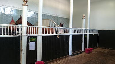 The stables at the Royal Mews, Buckingham Palace