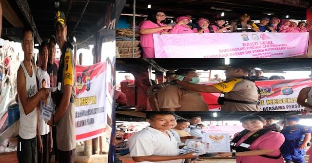 Hari Kesatuan Gerak Bhayangkari Ke-67, Polres Tanjung Balai Gelar Bhakti Sosial Kesehatan Kepada Masyarakat Nelayan