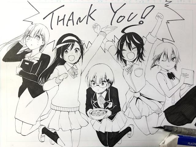 Manga Bokutachi wa Benkyou ga Dekinai, ilustración