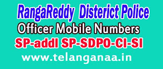 RangaReddy District Police Office Mobile Numbers List