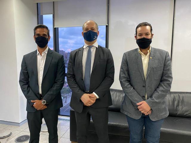 Diogo Moraes e Fábio Aragão realizam visita institucional ao Tribunal de Contas do Estado