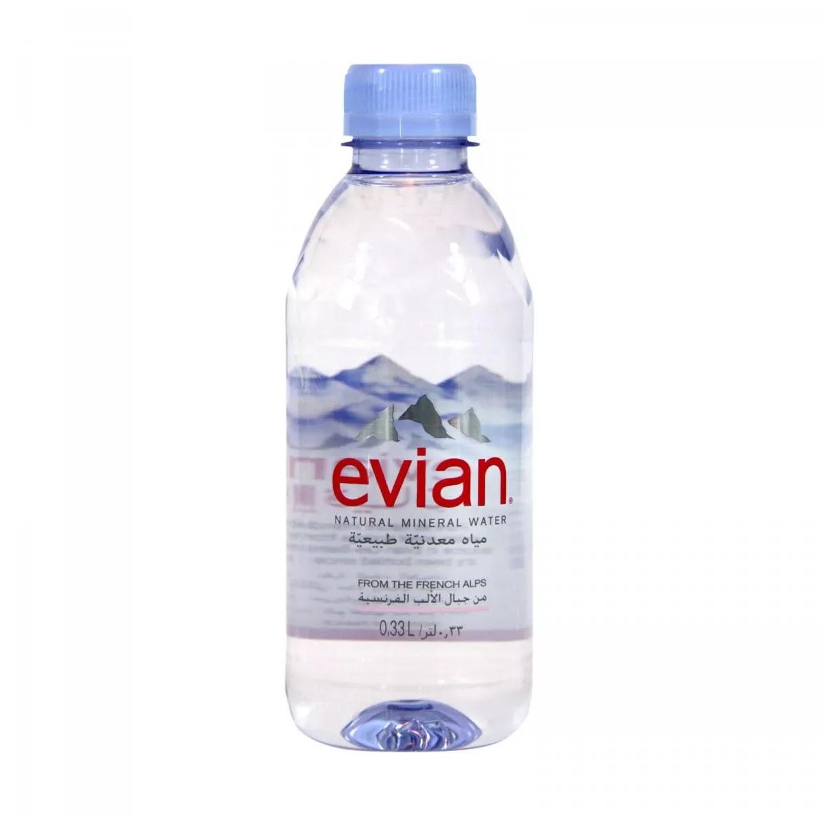 سعر مياه معدنية إيفيان Evian في مصر 2021