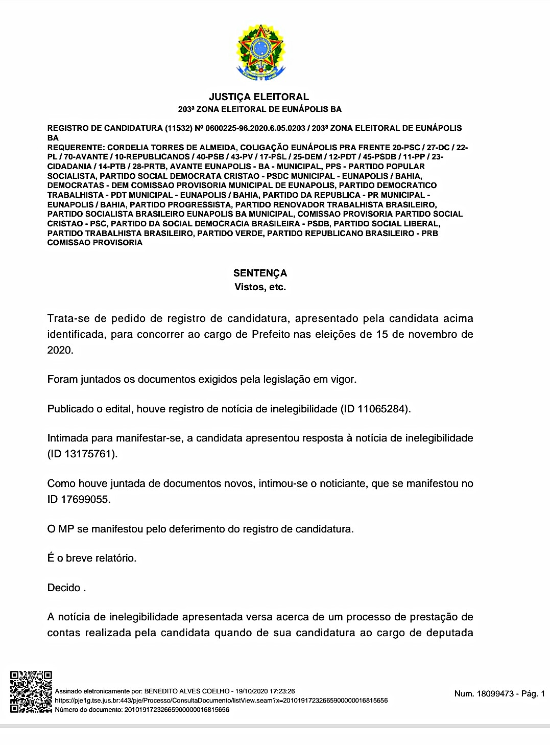 É DEFINITIVO: Juiz Eleitoral considera Cordélia apta para concorrer ao cargo de prefeita 31