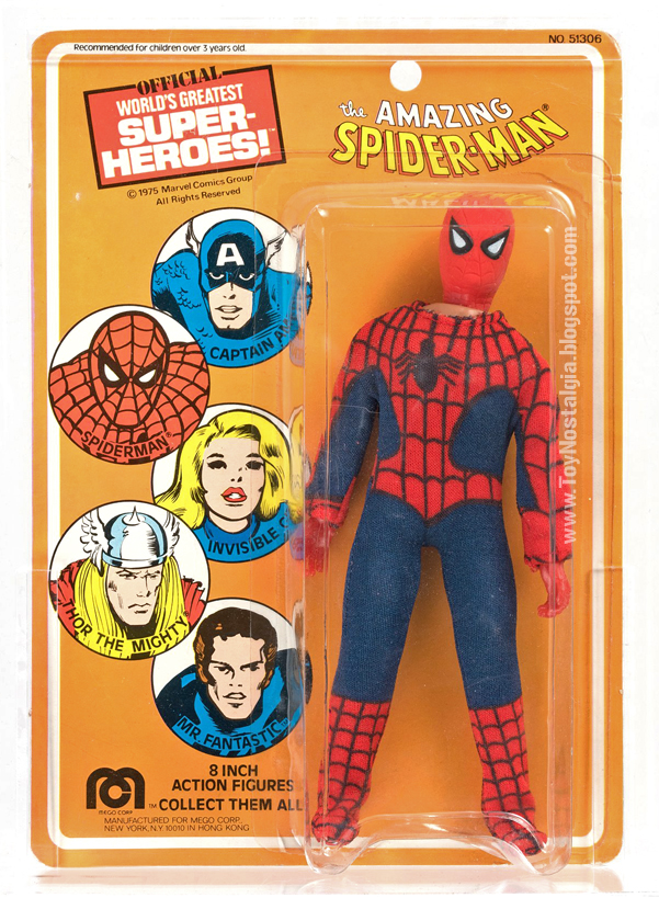 Mego Spider-Man 8 inches - Blister Card   (MEGO - World's Greatest Super Heroes!)