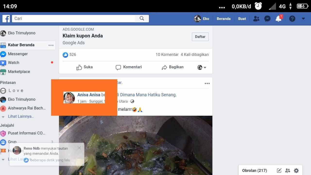 masuk facebook dengan nama pengguna