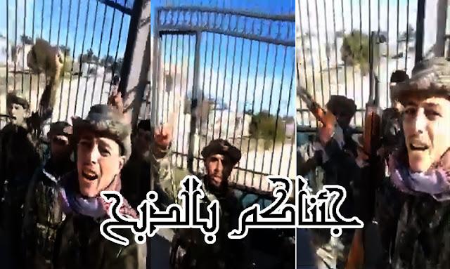 المرصد السوري لحقوق الانسان ينشر فيديو لمقاتلين سوريين موالين لتركيا يقاتلون في ليبيا بعد ان تم نقلهم من ادلب