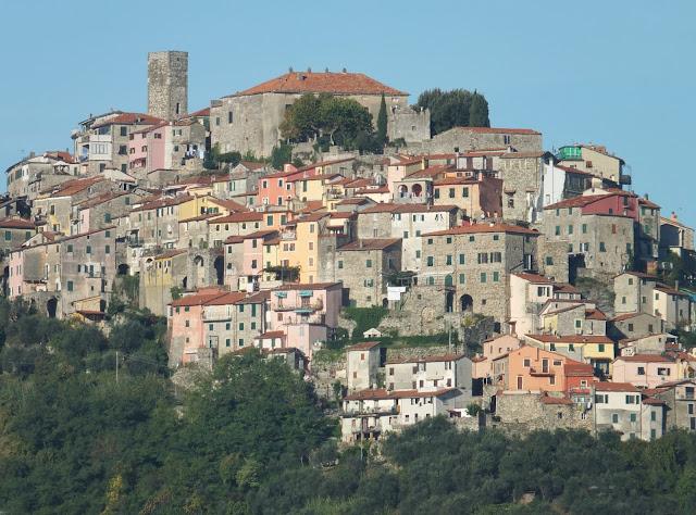 Italian Hill Town of Vezzano Ligure Inferiore in Liguria near Cinque Terre.