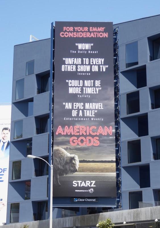 American Gods season 1 Emmy FYC billboard
