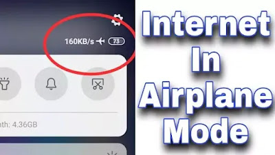 Flight mode me net kaise chalayen? | Internet on flight mode