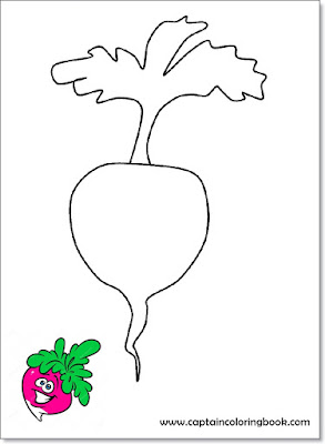 Vegetable coloring pages-5